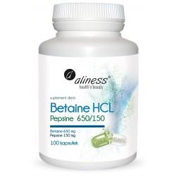 Betaine HCL, Aliness, 100 kapsułek