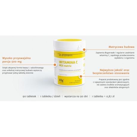 Witamina C MSE matrix 90 tabletek
