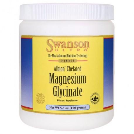Glicynian magnezu 400 mg, 150 g Swanson