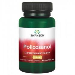 Policosanol Swanson 20 mg - 60 kapsułek